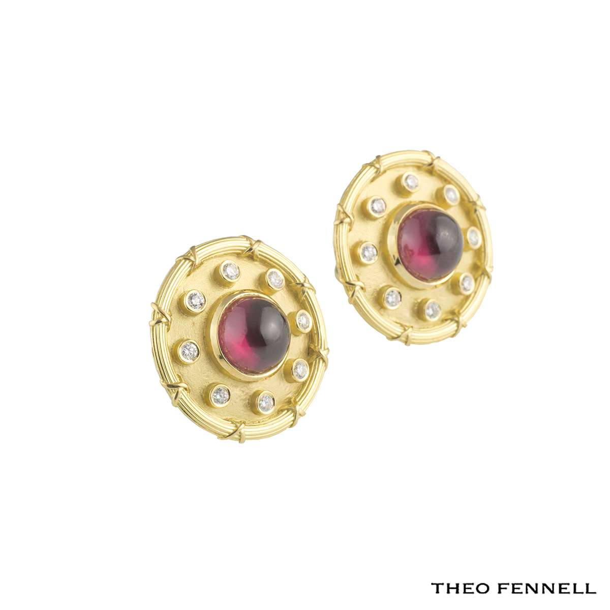 Theo Fennell Diamond Tourmaline Earrings 0.48ct G/VS